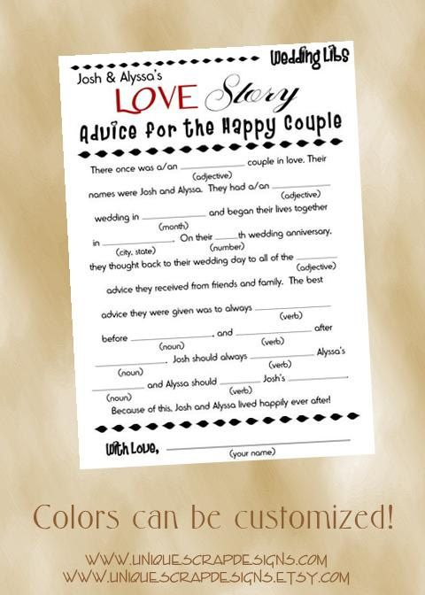 Freaking adorable i like the idea of doing the mad lib for Guest libs wedding edition template