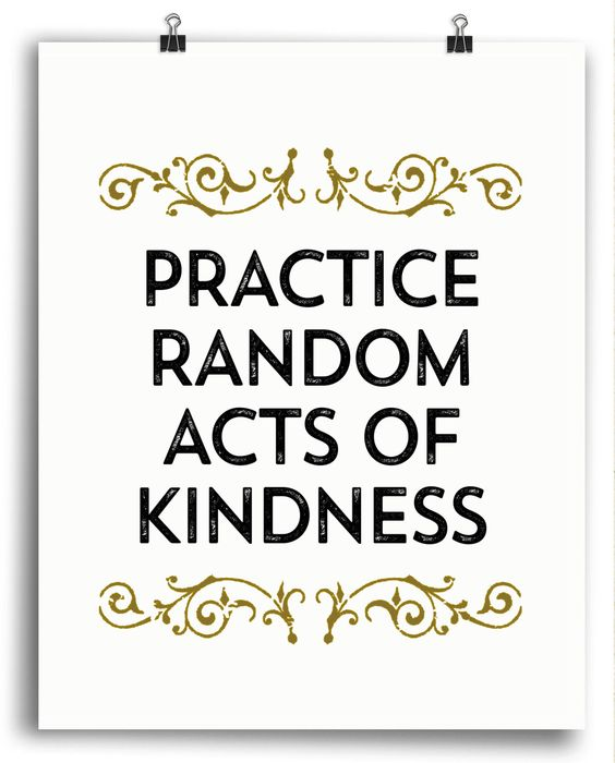 40th Birthday Random Acts Of Kindness: Practice Random Acts Of Kindness Print
