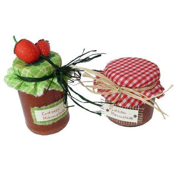 Marmeladenglas dekorieren - Die komplette  Bastelaneitung findest Du hier: http://www.trendmarkt24.de/bastelideen.marmeladenglas-dekorieren.html#p