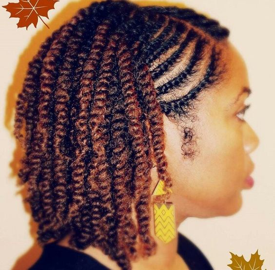 Natural twostrand twist side view