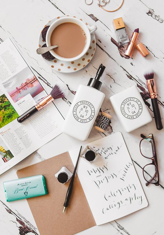a few of my favorite things - coffee flat lay: