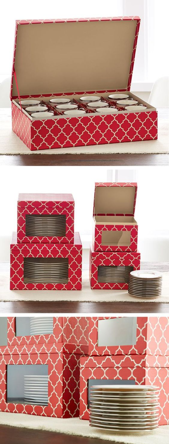 Our Holiday Dinnerware Storage Cases protect your china from year to year. And you'll love the viewing window that lets you see what's stored inside! Each piece holds service for 12.