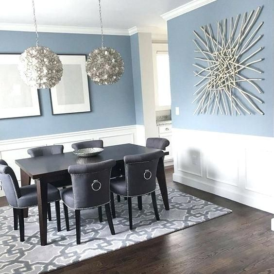 Blue Gray Walls Living Room Wainscoting Ideas With Pros And Cons Grey Dining Room Colors Dining Room Blue Dining Room Paint Colors