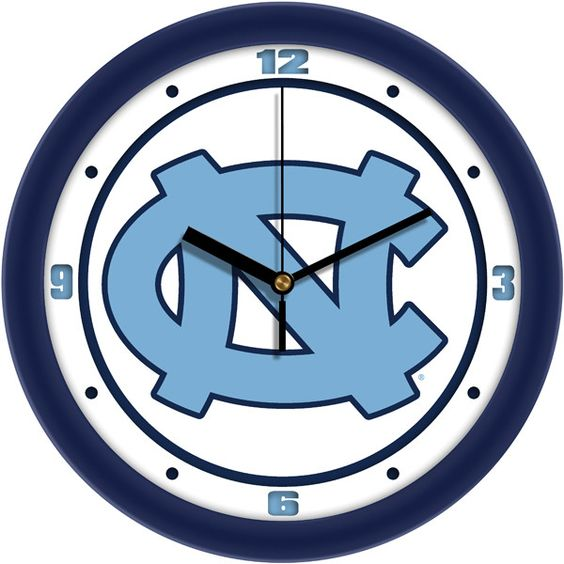 North Carolina Tar Heels - Traditional Wall Clock