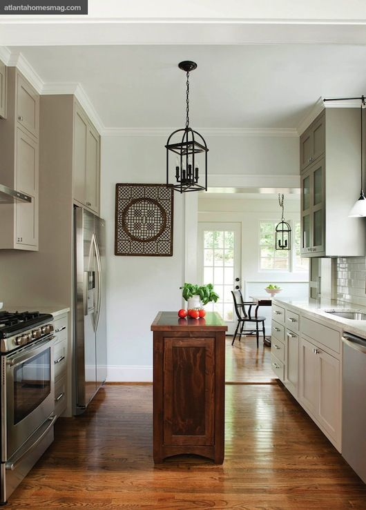 Atlanta homes lifestyles kitchens sherwin williams for Blue grey kitchen paint