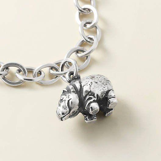 Hippopotamus Sterling Silver Vintage Charm For Bracelet
