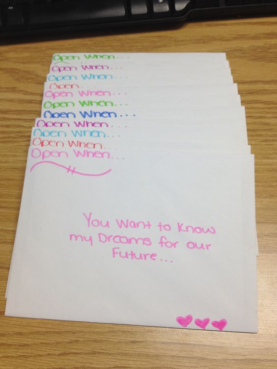 Open when open when letters and letters on pinterest for What to make your boyfriend