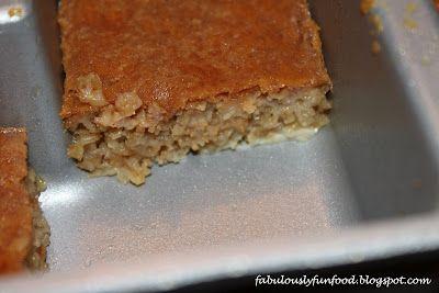 Fabulously Fun Food: Baked Peanut Butter Oatmeal: June Secret Recipe Club
