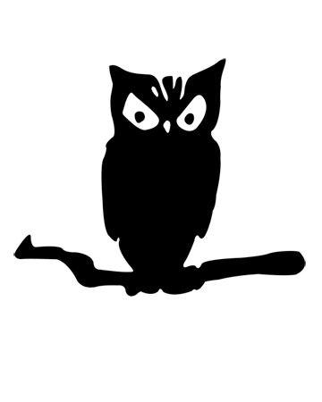 Spooky owl pumpkin carving template halloween for Spooky owl pumpkin stencil