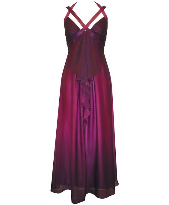 Alex Evenings plus size chiffon halter-neck dress....Gorgeous!!