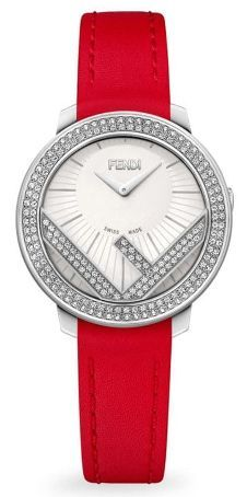 Fendi Run Away Stainless Steel & Diamond