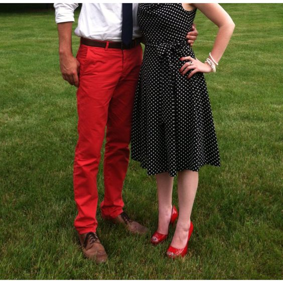 Red pants & wing tips