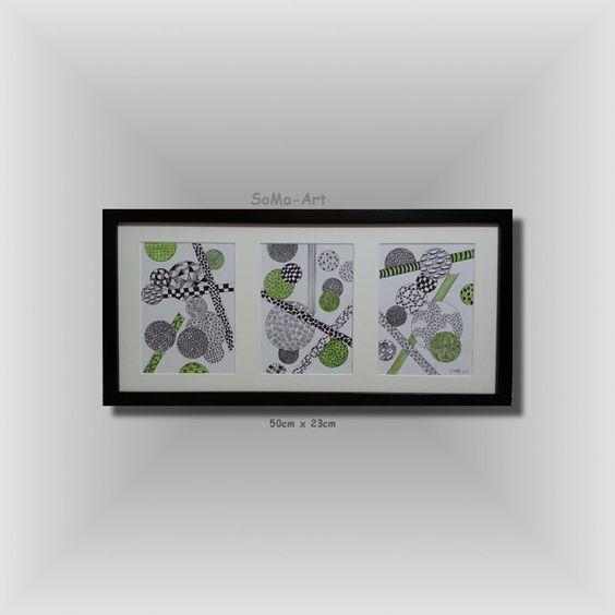 Zeichnungen+Kugelspiel+mit+Stäben+in+Maigrün+#046+von+SoMa-Art+auf+DaWanda.com
