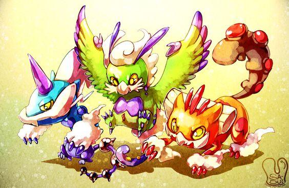 Pokemon : Sky Trio by Sa-Dui.deviantart.com on @DeviantArt