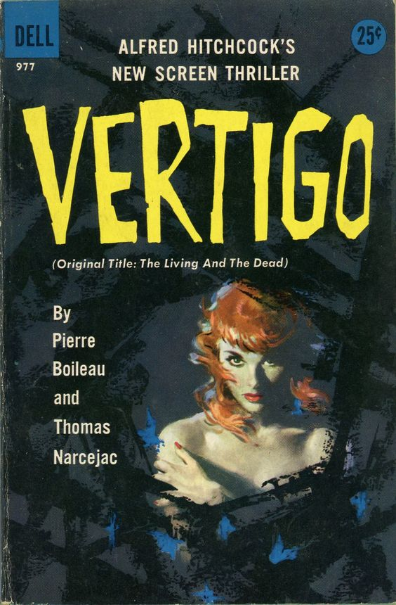 "Illustration Artwork by Robert Maguire Alfred Hitchcock's Vertigo (""The Living and the Dead"") Paperback Cover Art"