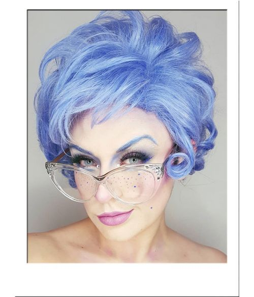 Blue Rinse Old Lady Wig In 2020 Womens Wigs Costume Wigs Wigs