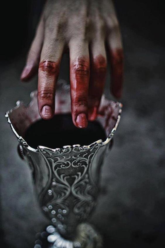 Pewter goblet of blood: