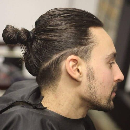 Small Undercut Hairstyle For Men With Long Hair Undercut Long Hair Guy Haircuts Long Man Bun Hairstyles