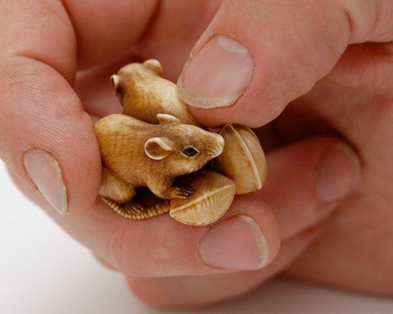 mice netsuke