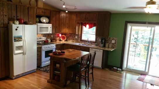 Home Styles Americana Distressed Cottage Oak Kitchen Island ...