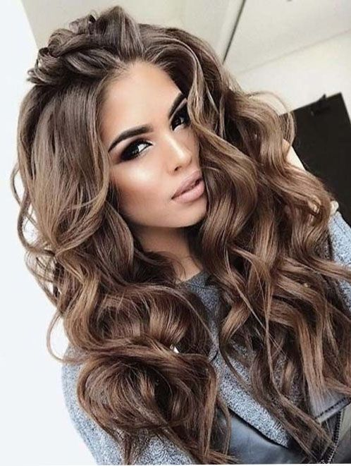Hairstyles 2018 For Weddings Weddinghairstyles Hair Styles Long Hair Styles Curly Hair Styles
