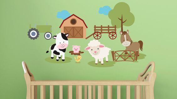 O cantinho das crianças pode ganhar um toque especial com os adesivos decorativos, que são elementos bem bacanas para dar um toque diferente aos ambientes.Traga os animais para a cidade com o adesivo com tema fazenda, da Adesivo Web.