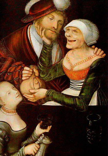 Cranach the Elder. The Procuress. 1548: