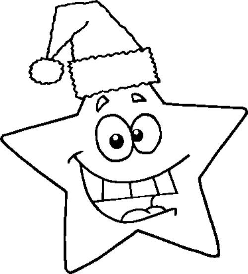 star christmas coloring pages - photo#42