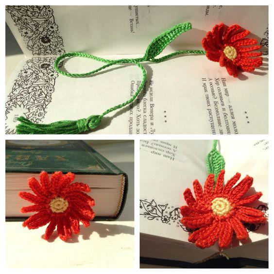 Bookmark/ закладочка для книг цветок гербера