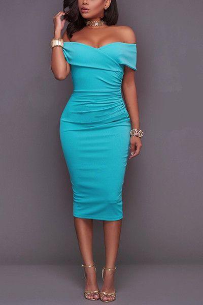 Sleeve Sheath Ankle Length Dresses