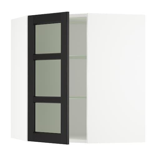 White Storage With Sliding Gl Doors
