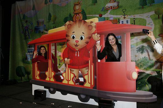 All aboard the trolley! PBS KIDS VIPs at the Daniel Tiger breakfast.