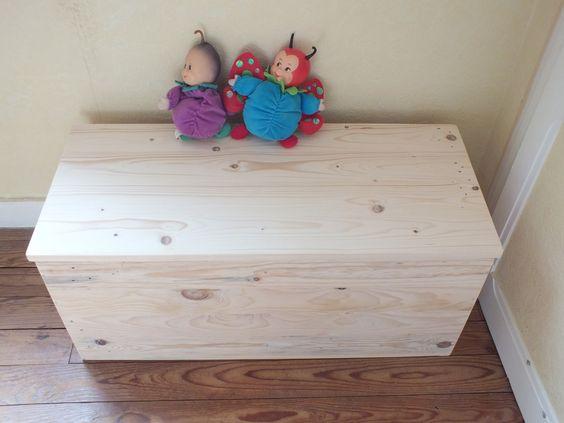 Coffre En Bois De Palette : Coffre ? jouets en bois de palette et finition cire naturelle