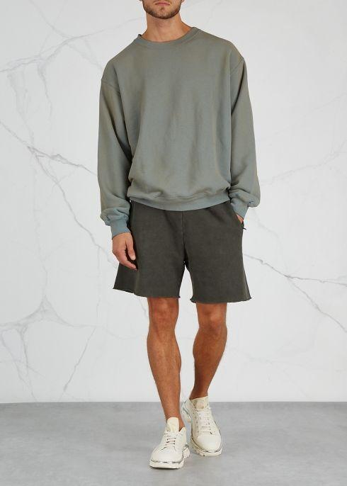 Army green cotton shorts - YEEZY SEASON