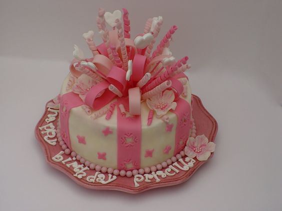 Fondant birthday cakes for beginners once upon a for How to bake a simple cake for beginners