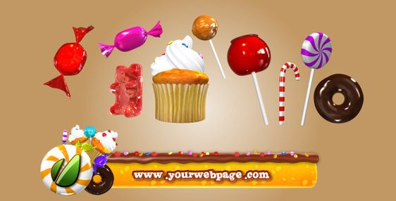 Candy Pack motion graphics.