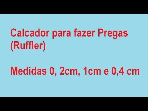 Calcador de franzir - YouTube