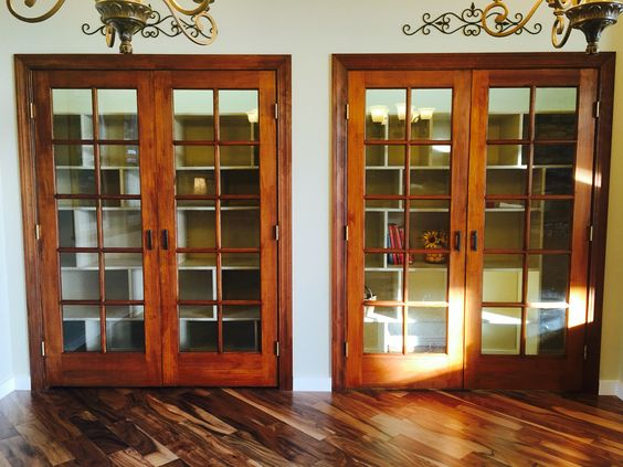 Pantry! HUGE! 2 sets of French doors from Home Depot