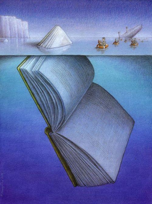 La lectura nos salva de los naufragios interiores (ilustración de Pawel…