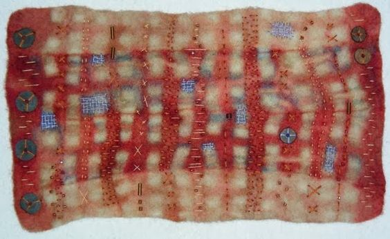THE INSIDE STORI BY MARY STORI: FURROWS - RESIST DYED FELTED WOOL