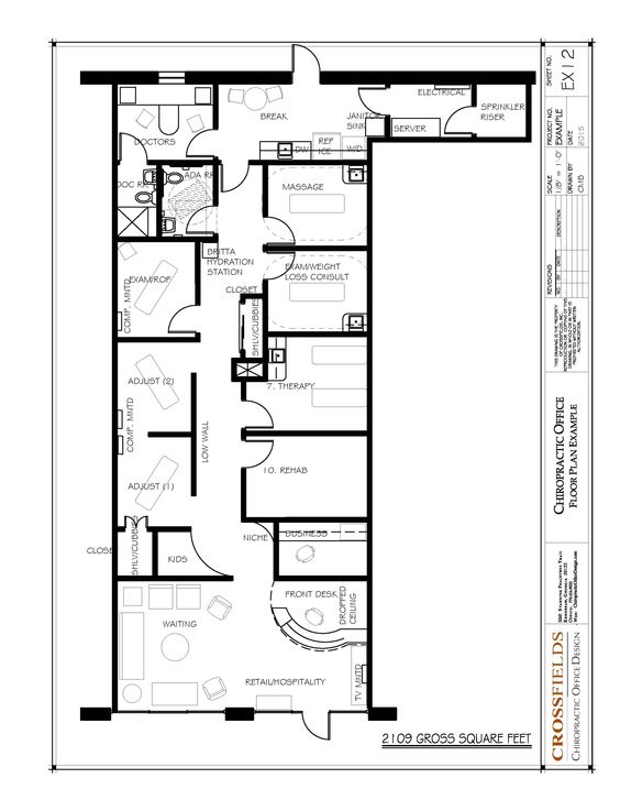 Chiropractic Office Design Layout Example Of Chiropractic Floor Plan ...