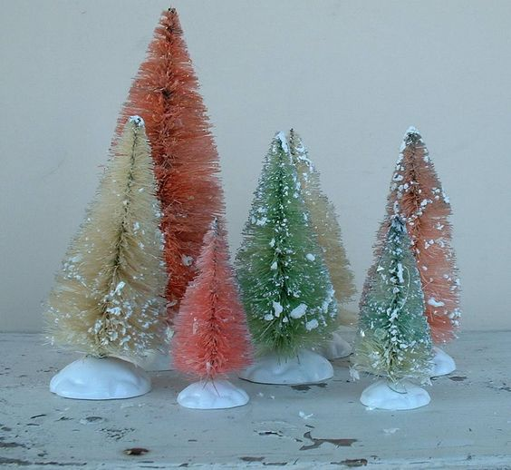 making different colored bottle brush trees...can't wait to try this!