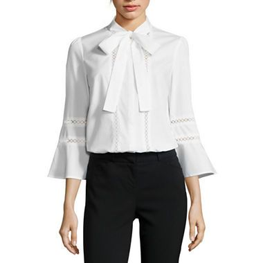 jcpenney.com | Worthington® Flared-Sleeve Button-Down Shirt
