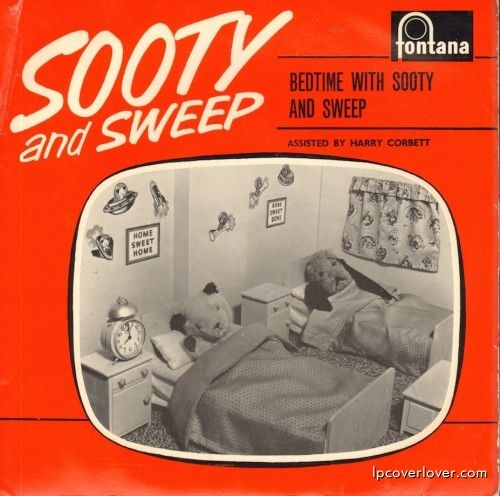 """Sooty And Sweep Assisted By Harry Corbett, """"Bedtime with Sooty and Sweep"""" (1961)."""