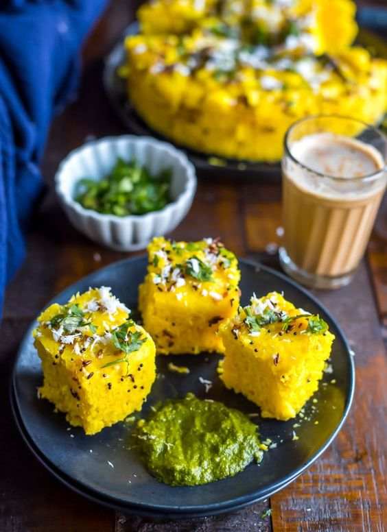 Dhokla – vegetarian food