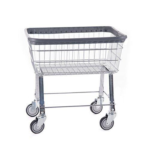 R B Wire 96b Light Duty Rolling Wire Laundry Cart 2 5 Bushel