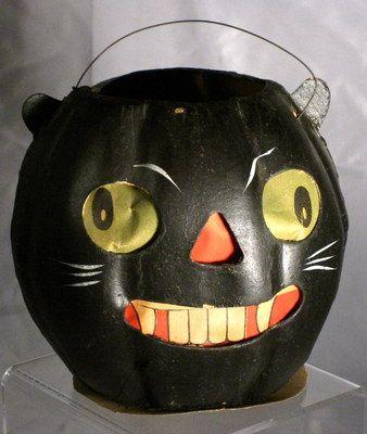 German Halloween Black Cat Lantern