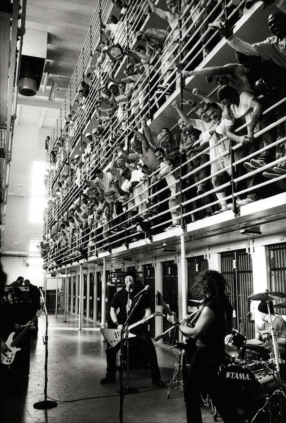 Metallica preforming at San Quentin State Prison, 2003.