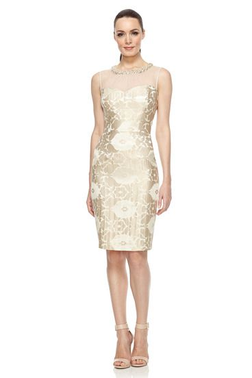 Sheath Wedding Dresses London : Starry night jacquard sheath dress guest of wedding