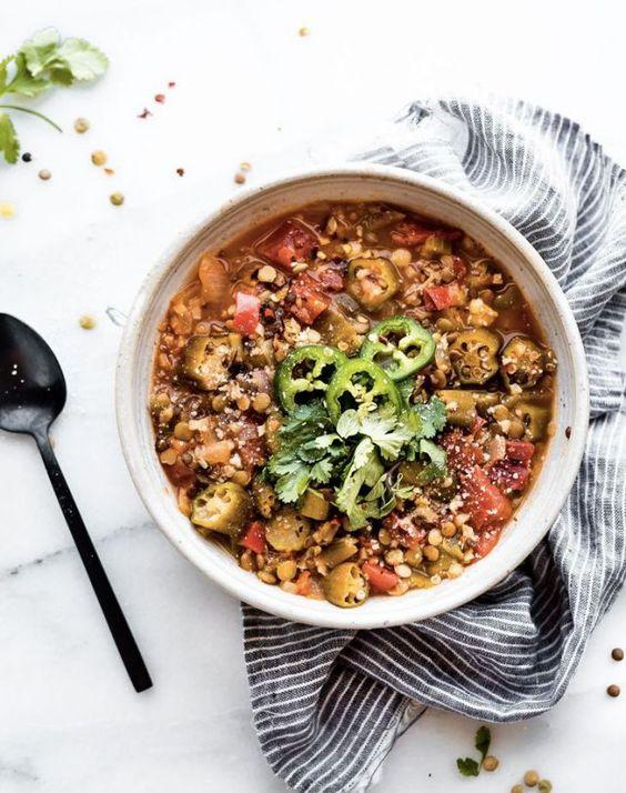 Instant Pot Lentil Gumbo {Vegan}